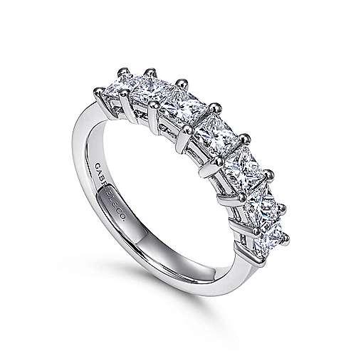 14k White Gold Diamond Straight Anniversary Band angle 3