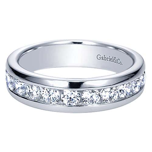 14k White Gold Diamond Straight
