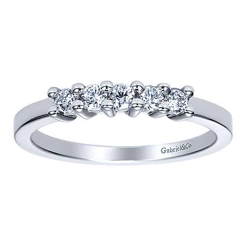 14k White Gold Diamond Straight Anniversary Band angle 4