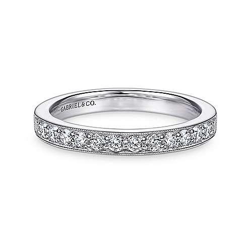 14k White Gold Diamond Straight