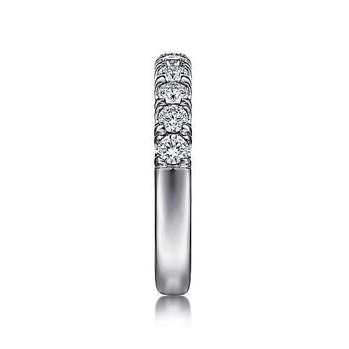 14k White Gold Diamond Straight Anniversary Band angle 4