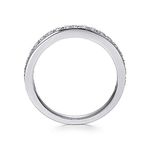 14k White Gold Diamond Straight Anniversary Band angle 2