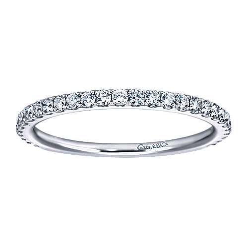 14k White Gold Diamond Straight Anniversary Band angle 5
