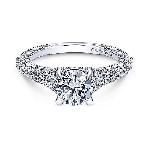 Gabriel - 14k White Gold Riata Engagement Ring