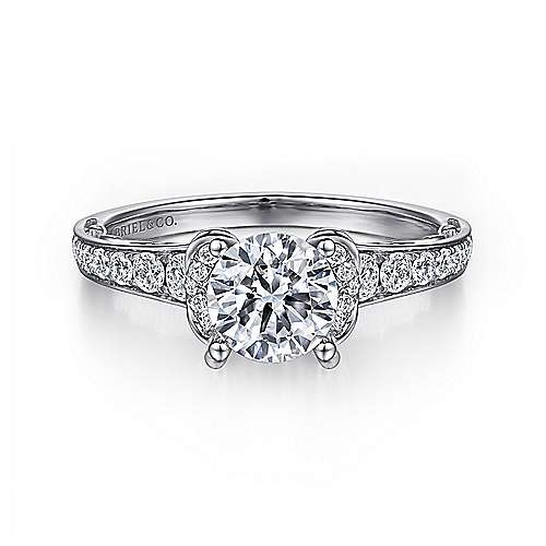 Gabriel - 14k White Gold Eclipse Engagement Ring