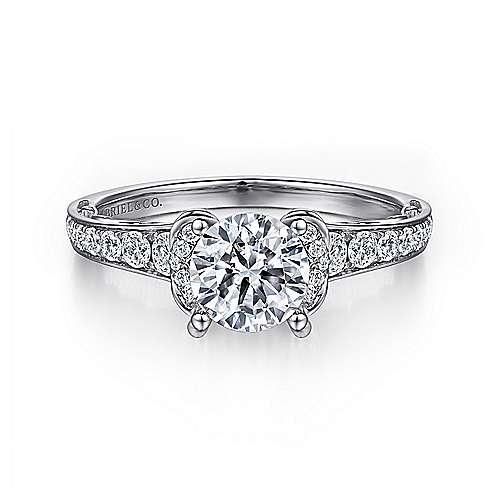 Gabriel - 14k White Gold Eclipse Engagement Ring