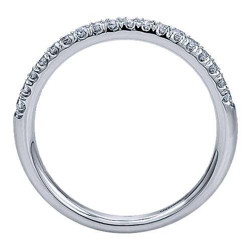 14k White Gold Diamond Straight Wedding Band angle 2