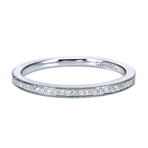 14k White Gold Victorian Straight
