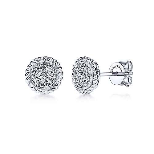 14k White Gold Hampton Stud
