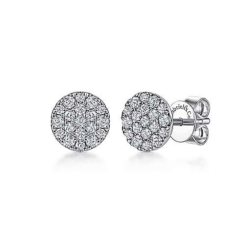 14k White Gold Silk Stud
