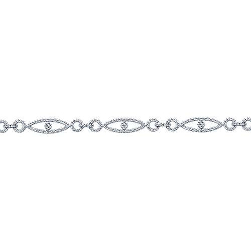 14k White Gold Diamond Tennis Bracelet angle 2