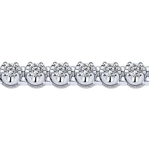 14k White Gold Diamond Tennis Bracelet angle 2