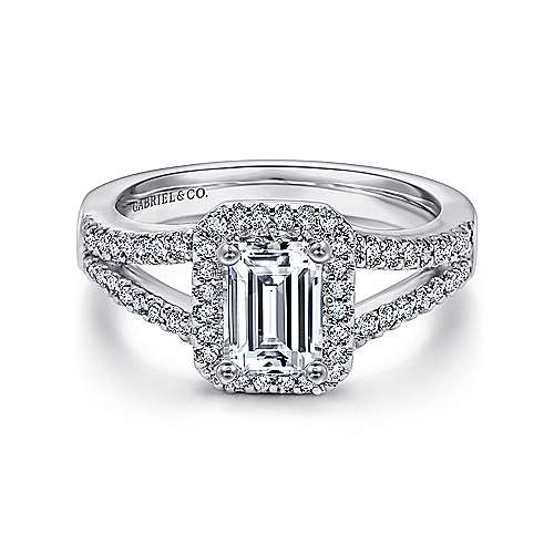 marlena 14k white gold emerald cut halo engagement ring er7740w44jj