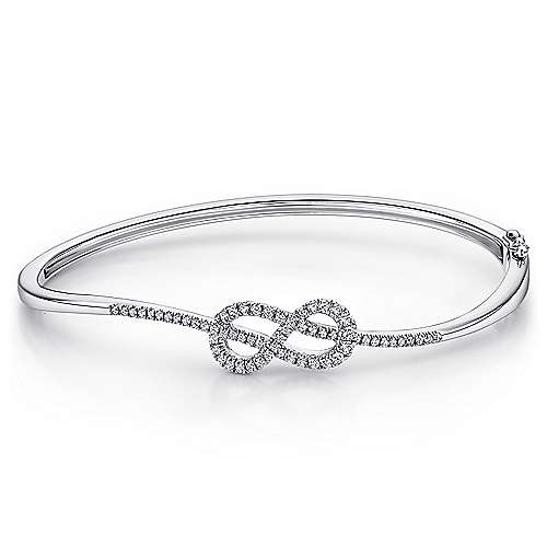 Gabriel - 14k White Gold Eternal Love Bangle