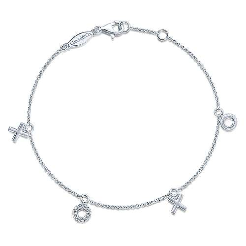 Gabriel - 14k White Gold Eternal Love Chain Bracelet