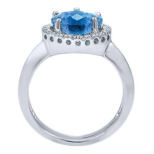 14k White Gold Eternal Love Fashion Ladies' Ring angle 2