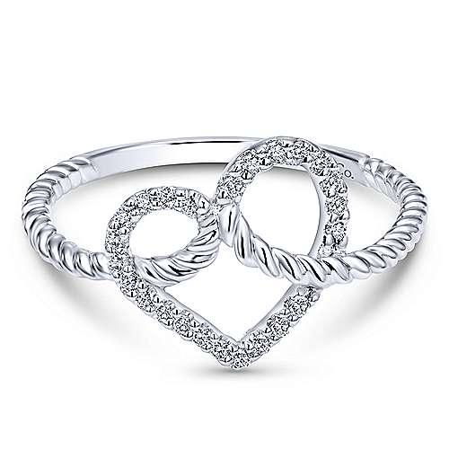 Gabriel - 14k White Gold Eternal Love Fashion Ladies' Ring