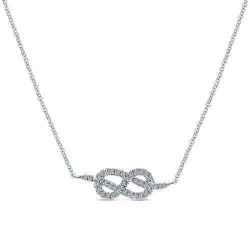 Gabriel - 14k White Gold Eternal Love Fashion Necklace