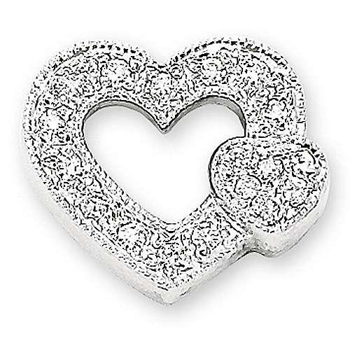Gabriel - 14k White Gold Eternal Love Heart Heart Pendant