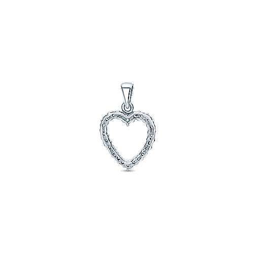 14k White Gold Eternal Love Heart Heart Pendant angle 2