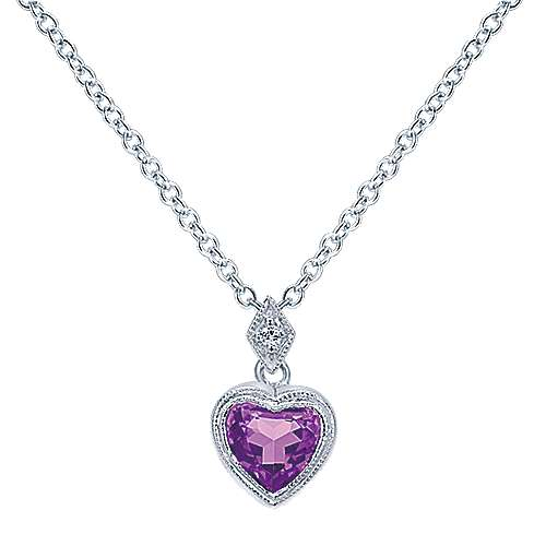14k White Gold Eternal Love Heart Necklace