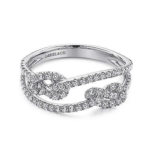 Gabriel - 14k White Gold Eternal Love Twisted Ladies Ring