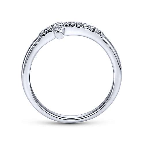 14k White Gold Faith Fashion Ladies' Ring angle 2