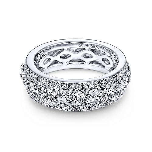 Gabriel - 14k White Gold Fancy Eternity Band