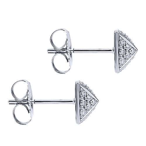 14k White Gold Fierce Stud Earrings
