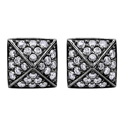 Gabriel - 14k White Gold Fierce Stud Earrings