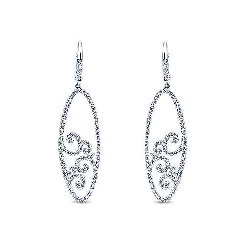 Gabriel - 14k White Gold Flirtation Drop Earrings