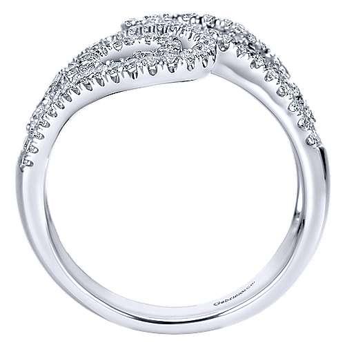 14k White Gold Flirtation Fashion Ladies' Ring angle 2