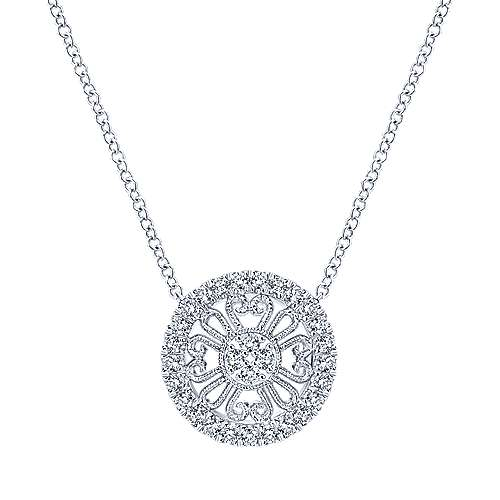 Gabriel - 14k White Gold Flirtation Fashion Necklace