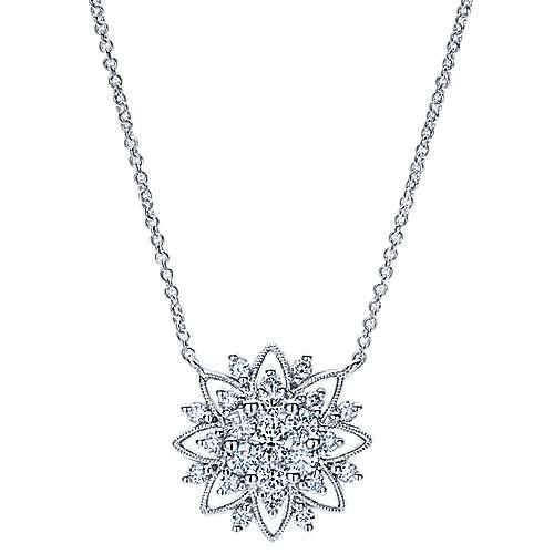 14k White Gold Flirtation Fashion Necklace angle 1