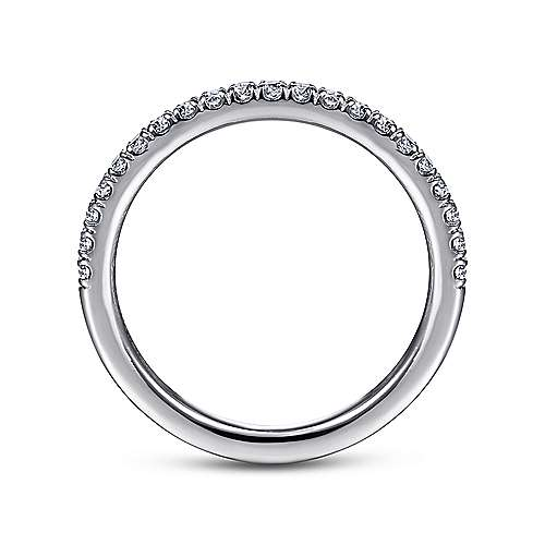 14k White Gold French Pavé Set Anniversary Band