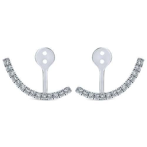 Gabriel - 14k White Gold Gemini Earrings Jacket Earrings
