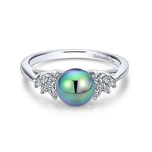 Gabriel - 14k White Gold Grace Classic Ladies' Ring