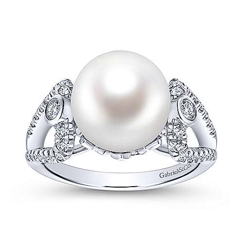 14k White Gold Grace Fashion Ladies' Ring angle 4
