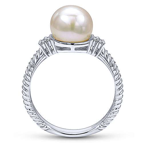 14k White Gold Grace Fashion Ladies