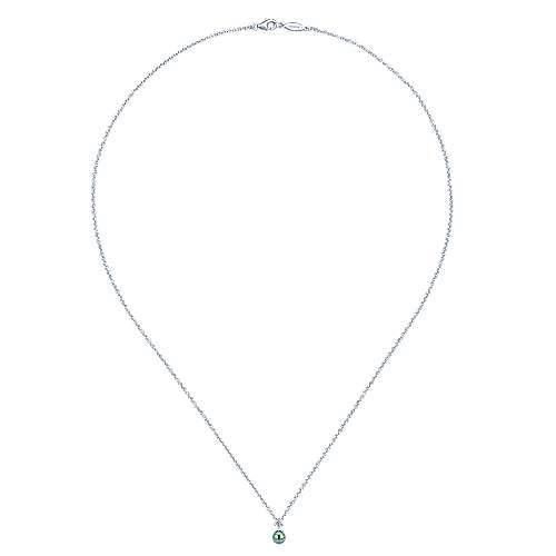 14k White Gold Grace Fashion Necklace angle 2