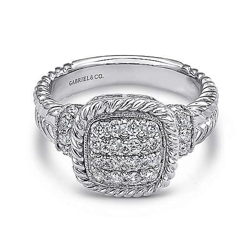 Gabriel - 14k White Gold Hampton Classic Ladies' Ring