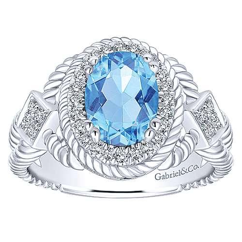 14k White Gold Hampton Classic Ladies' Ring angle 4