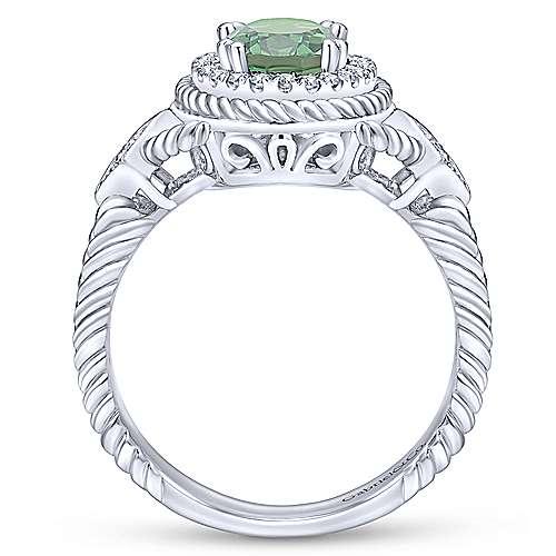 14k White Gold Hampton Classic Ladies' Ring angle 2