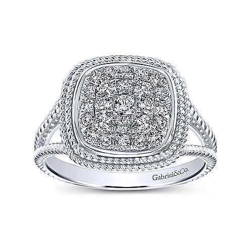 14k White Gold Hampton Fashion Ladies