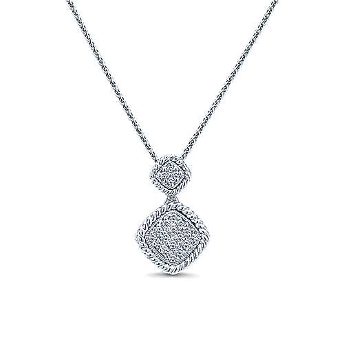 14k White Gold Hampton Fashion Necklace angle 1