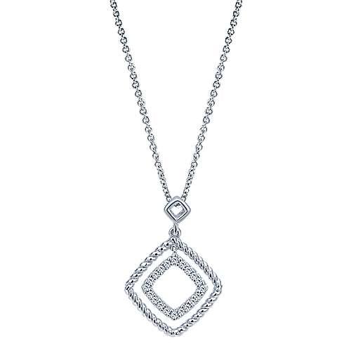 14k White Gold Hampton Fashion Necklace angle 1