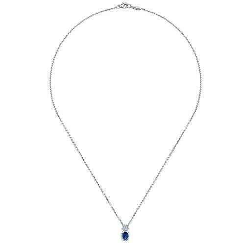 14k White Gold Hampton Fashion Necklace angle 2