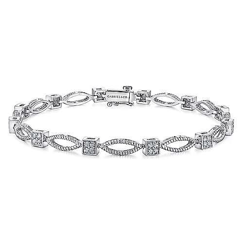 Gabriel - 14k White Gold Hampton Tennis Bracelet
