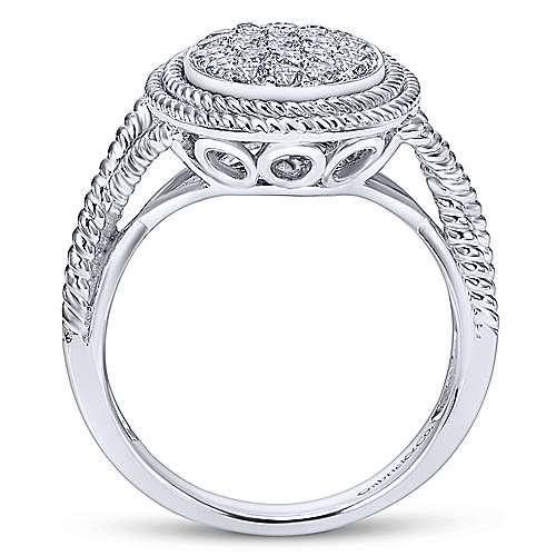14k White Gold Hampton Twisted Ladies' Ring angle 2
