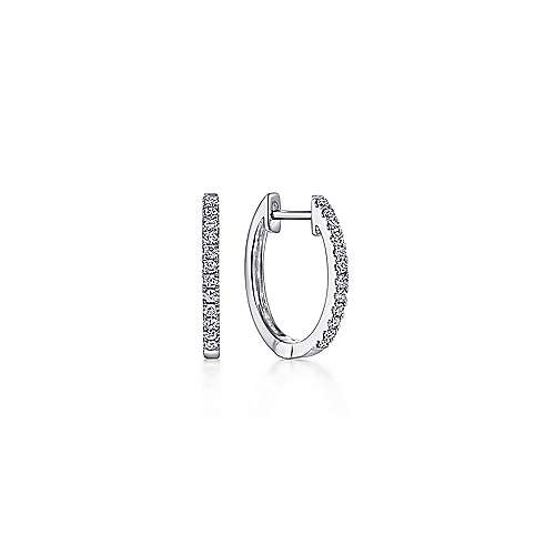 14k White Gold  Huggie